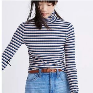 Madewell Striped Long Sleeve Turtleneck Top Sz XS